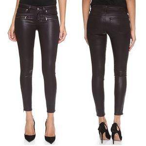 "PAIGE ""Jane Zip"" Coated Skinny Jeans"